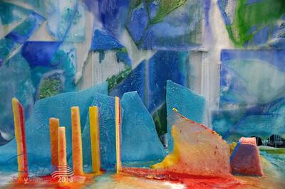 Ice painting/sculpture.  Feb. 08.