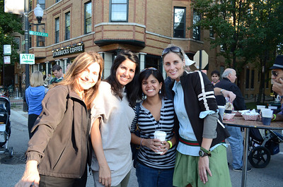 Bahar and her Mom posing with Ami and Courtney.