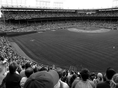 Bleacher seats at Wrigley