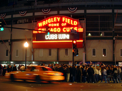 This was taken on the night the Cubs won the game that qualified them to be in the playoffs for the World Series, October 4,2003