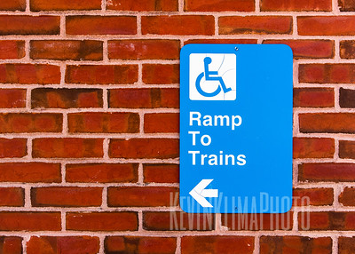 Handicap Ramp to Trains Sign