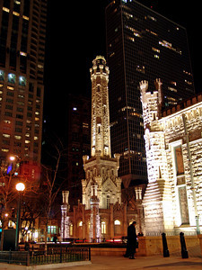 The original Water Tower survived The Great Chicago Fire