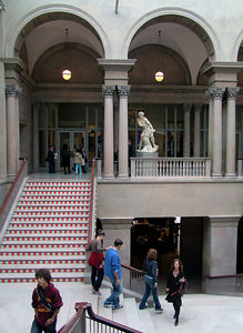 Students and art lovers visit The Art Institute of Chicago