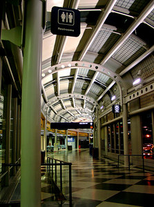 B Concourse at night