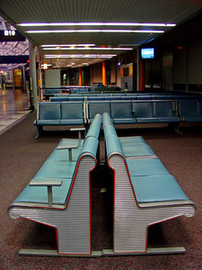Airport without Travelers