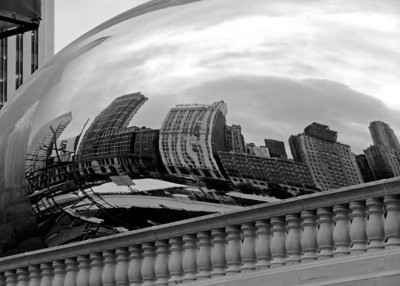 Cloud Gate Sculpture,  Millennium Park, Chicago