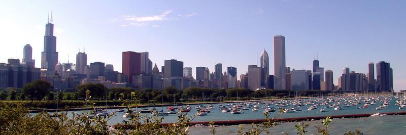 Chicago Skyline from Shedd Aquarium