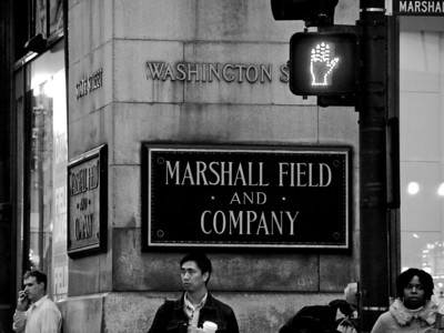 Marshall Field  and Company sign on the State Street Store