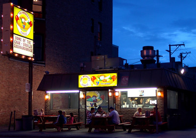 The Wiener's Circle This is where drunk people go to get yelled at over a greesy, cheesy, grilled onion hot dog at 2am