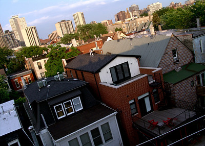 My neighborhood, Lincoln Park from above