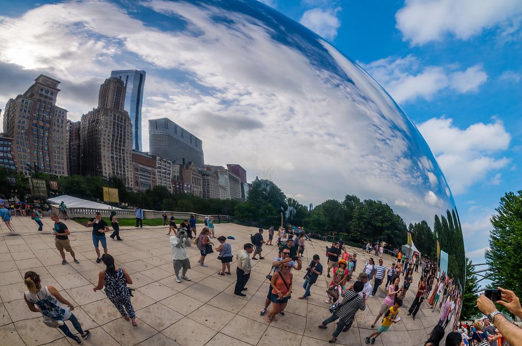 "Cloud Gate or ""The Bean"" Millennium Park, Chicago"