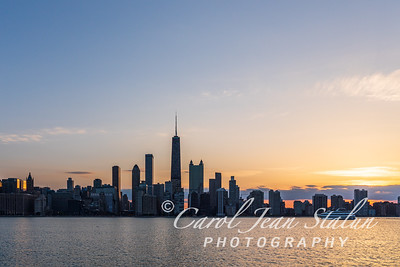 Chicago Skyline Sunset 4