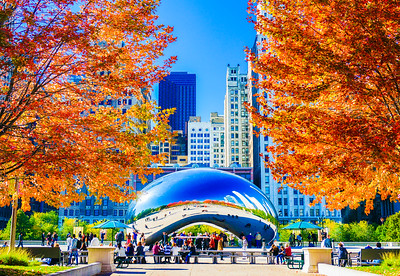 Millenium Park in Fall 1