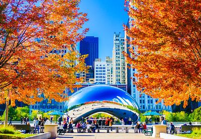 Millenium Park in Fall 1
