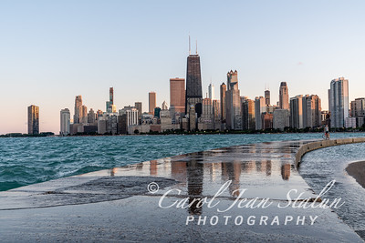 Chicago Skyline at North Avenue Beach