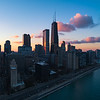 Chicago at Sunset