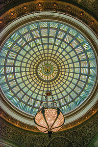 The exquisite glass ceiling of the Chicago Cultural Center - a hidden Chicago gem!