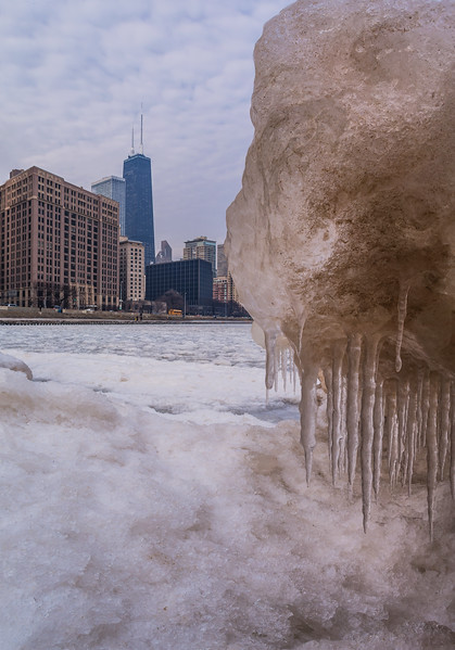 A cold morning on Lake Michigan, Chicago