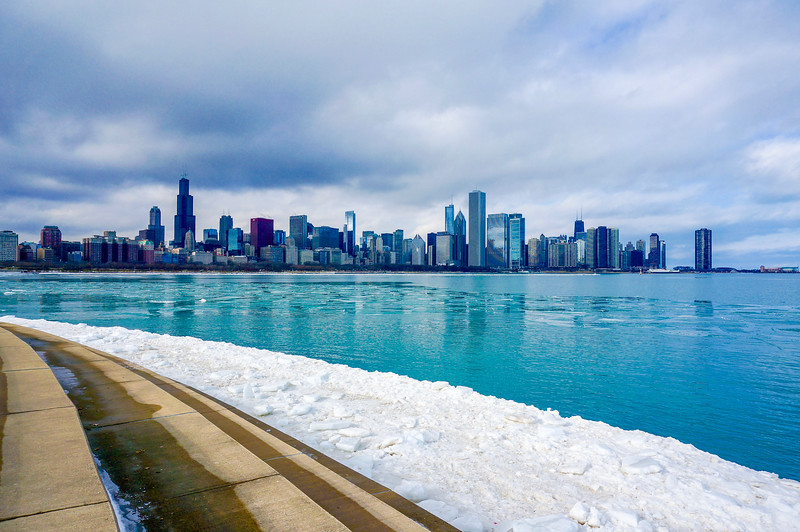Icy Chicago Skyline 3