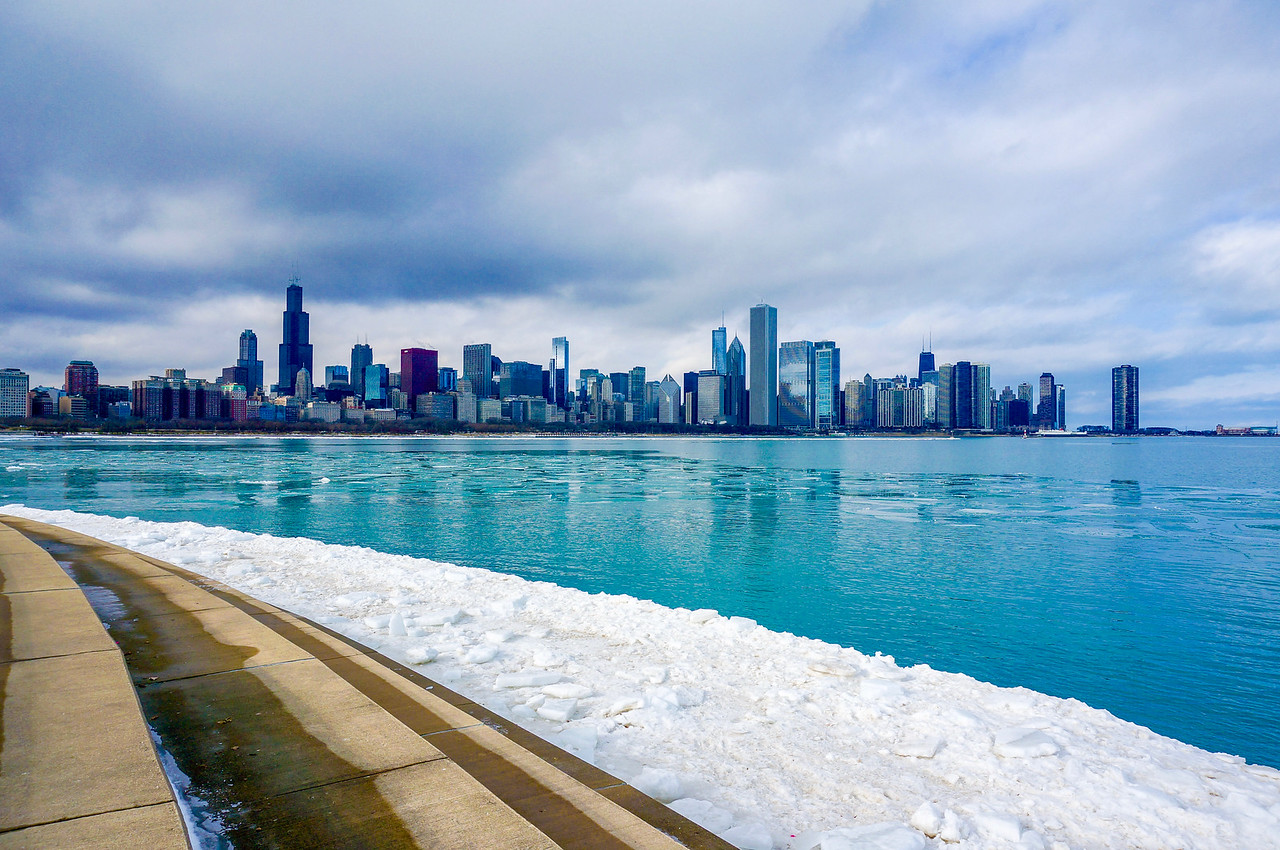 Icy Chicago Skyline 3