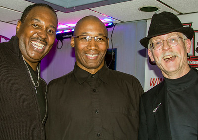 (l-r) Joe Morganfield with drummer Chris Alexander and bass player Mike Flynn