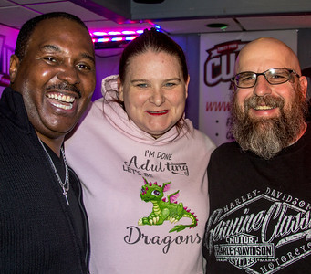 Joe Morganfield with Amy and John