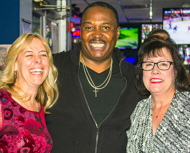 Joe Morganfield with two fans