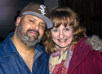Armando Cortez (The Special 20s, Chicago Blues Angels) and fan Melissa Cook