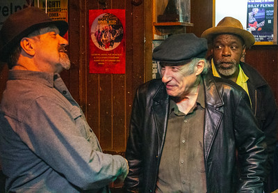 (l-r) DJ Tom Marker, Dick Shurman and Lurrie Bell