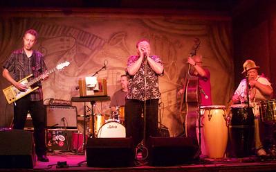 6.8.16 @ Fitzgeralds: (l-r) The James Harman Band