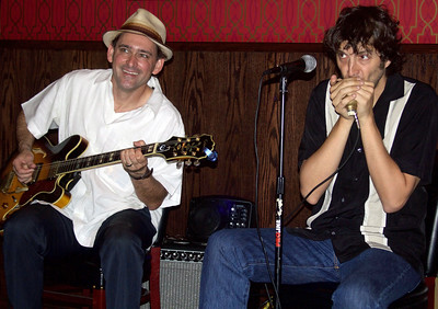 Rockin' Johnny Burgin (l) and Quique Gomez @ Big Bricks on June 5