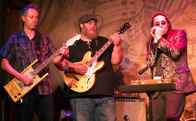 6.8.16 @ Fitzgeralds: (l-r) Nathan James, Nick Moss and Dennis Gruenling