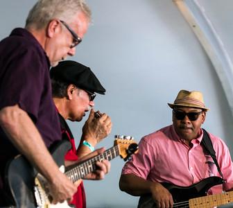 (l-r) Rick Kreher, Studebaker John and EG McDaniel | Front Porch Stage