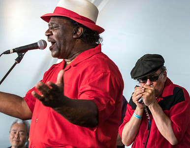 Mud Morganfield (with Ariyo and Studebaker John in background)  | Front Porch Stage