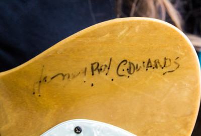May 21 | Yes, That says Honey Boy Edwards on Low-reen's Guitar