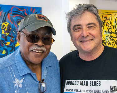 JUNE 5 | Jimmy Burns (l) with Delmark's Elbio Barilari  @ Delmark's Riverside Studio