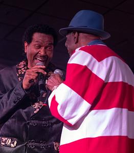 (l-r) Bobby Rush and Buddy Guy