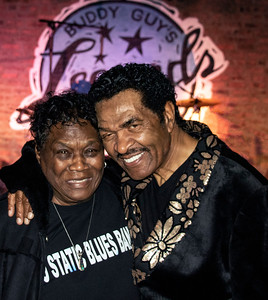 Mary Lane (l) with Bobby Rush