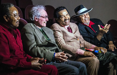 (l-r) Johnny Drummer, Michael Frank, Bobby Rush and Merle Perkins