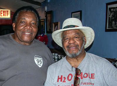 (l-r) Willie Buck and Water Hole owner Tony Anthony