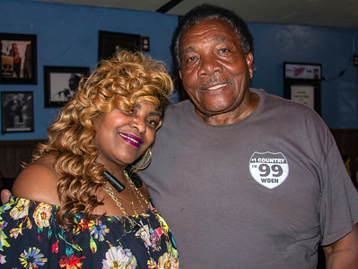 Marion Diaz (Little Walter's daughter) and Willie Buck