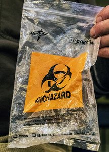 Yes...you can use a Biohazard bag for your harp...if you are a doctor