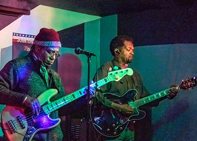 (l-r) Stewart and Tony Brown | Low-reen and the Maxwell St. Market Blues Band