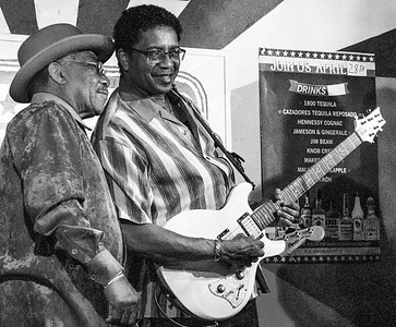 Little Johnny Harper (l) with K-Jazz | Low-reen and the Maxwell St. Market Blues Band