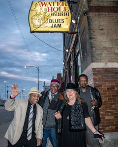 Low-reen and the Maxwell St. Market Blues Band (l-r: DC, Stewart, Low-reen and Tony Brown)