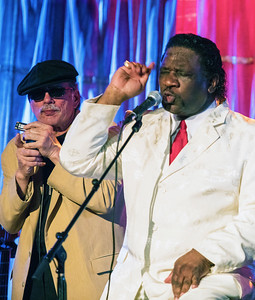 (l-r) Studebaker John and Mud Morganfield