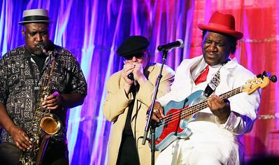 (l-r) Michael Jackson, Studebaker John and Mud Morganfield