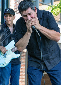 Ron Sorin with Harlan Terson in background | Blue Coast Band