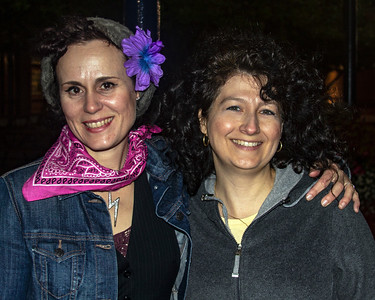 Two blues women: Erin Harpe (l) and Donna Herula