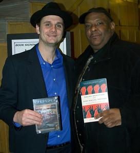 "America's Blues Co-producer/Director Patrick ""JT"" Branson (l) and Wittenberg University Professor Julius Bailey"